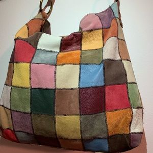 Lucky brand patchwork tote